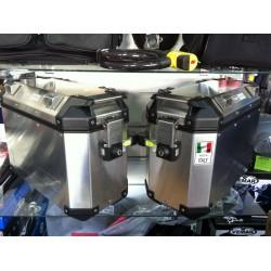 TREKKER OUTBACK 37 Valigie laterali set coppia di valigie Trekker Outback, in alluminio, 37 lt.