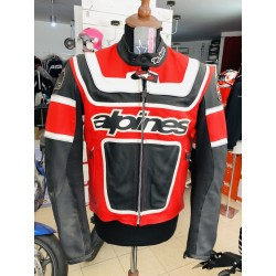 Alpinestars PATRIOT , replica BEN BOSTROM  LEATHER JACKET GIACCA IN PELLE